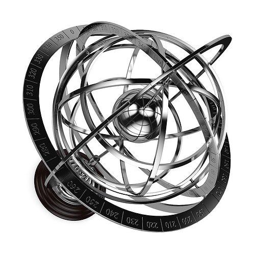 armillary sphere 3d model max obj fbx c4d mtl 1