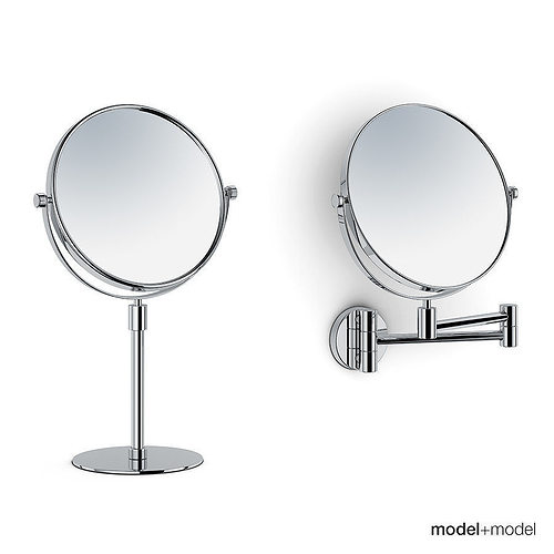 Magnifying Stand And Wall Mirrors 3d Model Max Obj 3ds Fbx Dxf Mat