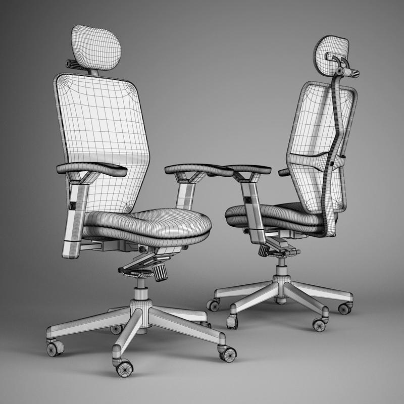 Office Chair 46 3d Model Max Obj Fbx C4d