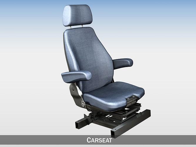 car - truck - seat witch attachment 3d model obj mtl 3ds fbx c4d lwo lw lws 1