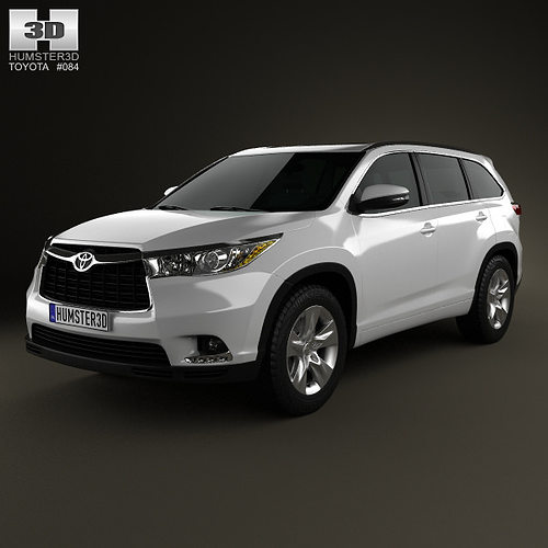 toyota highlander 2014 3d model max obj 3ds fbx c4d lwo lw lws. Black Bedroom Furniture Sets. Home Design Ideas