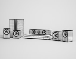 home theater 06 3d model