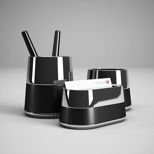 Office Desk Accessories 28 3d Model