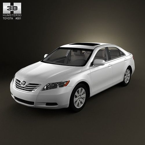 toyota camry xv40 2008 with hq interior 3d cgtrader. Black Bedroom Furniture Sets. Home Design Ideas