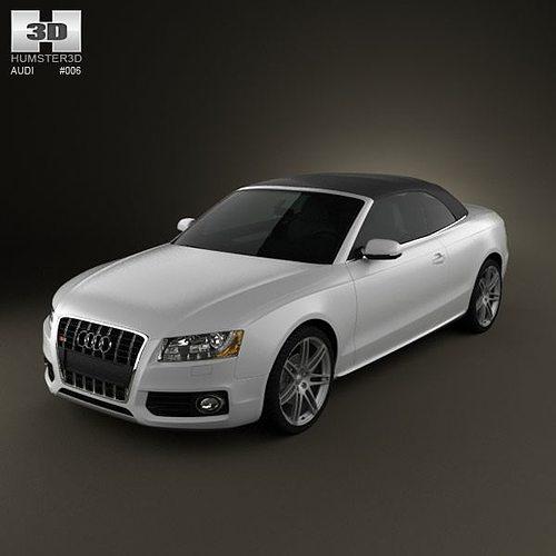 audi s5 convertible 2010 3d model max obj 3ds c4d lwo lw lws ma mb 1