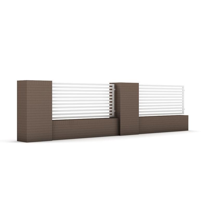 Concrete fence 03 3d model max obj fbx c4d mtl - Concrete fence models design ...