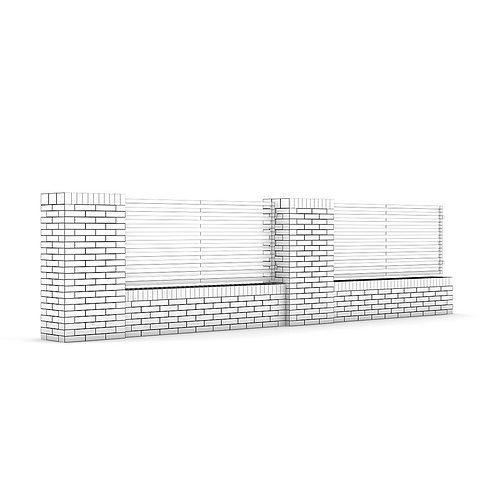 Concrete fence 03 3d cgtrader - Concrete fence models design ...