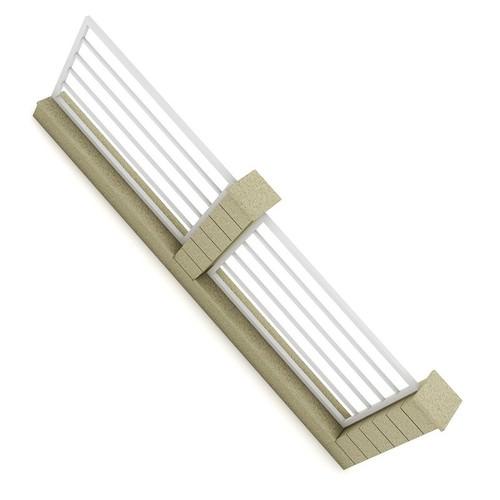 Concrete Fence 053D model