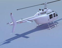 Jet Ranger Helicopter  3D Model