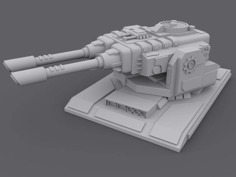 Laser Turret 3d Model Game Ready Max Cgtrader Com