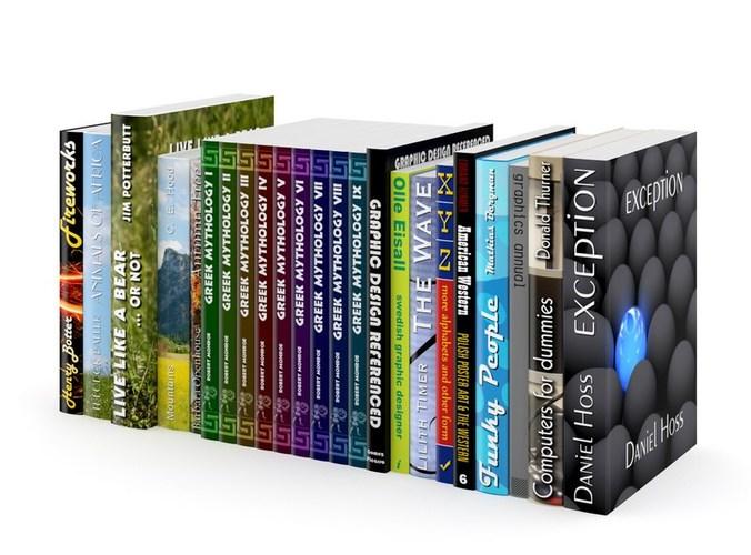 Books Set 013D model