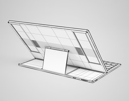 CGAxis Tablet with Keyboard 3D model