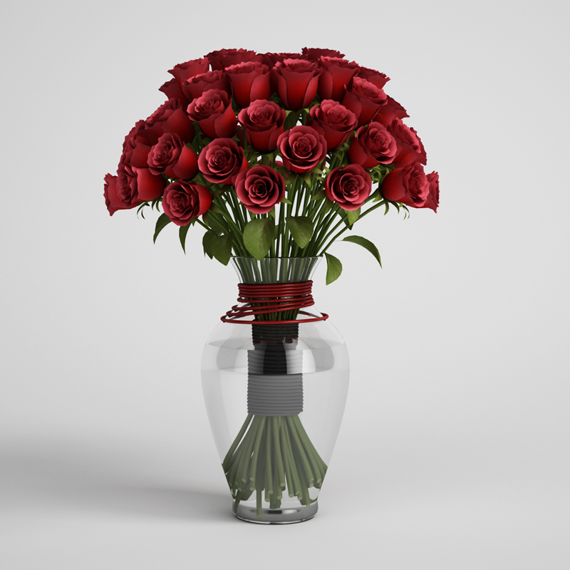 how to put roses in a vase