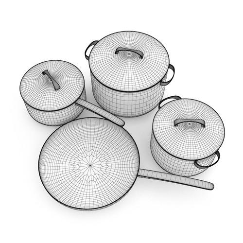 Cooking Set3D model