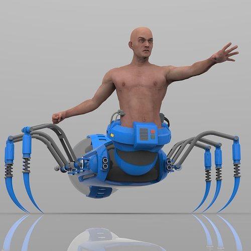 arachnox the spider lord for poser 3d model obj pz3 pp2 1