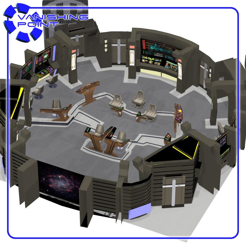 Captain chair car - Starship Bridge 5 For Poser 3d Model Rigged Pz3 Pp2