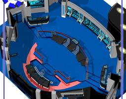starship bridge 4 for poser 3d model rigged