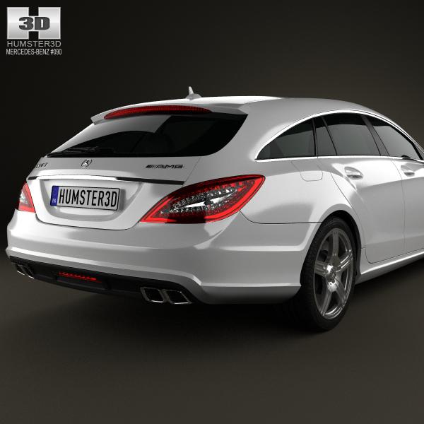 Mercedes-Benz CLS-Class 63 AMG Shooting Br... 3D Model