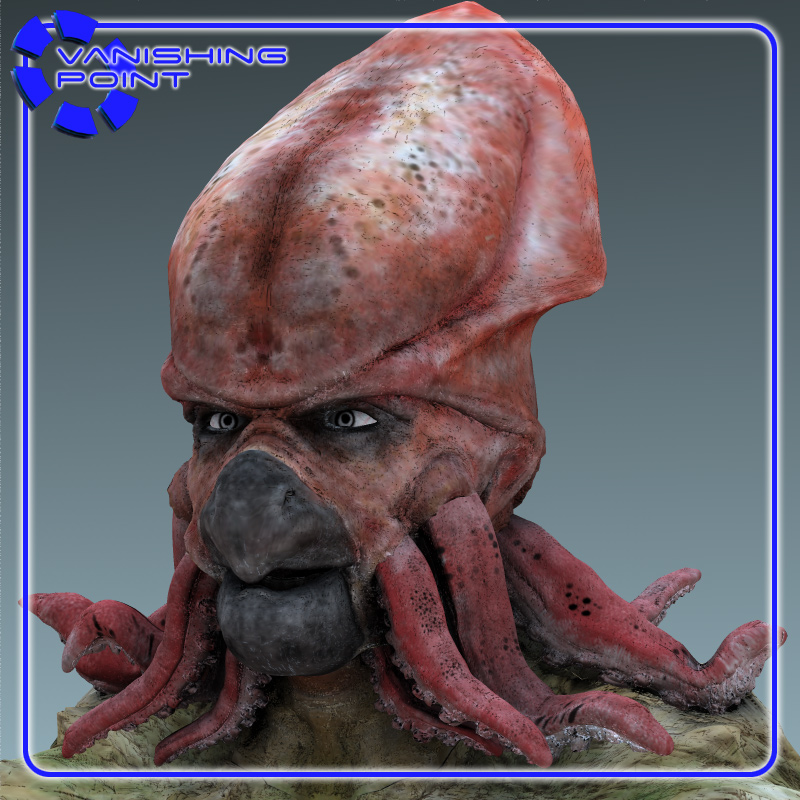 Squidman For Poser 3d Model Rigged Pz3 Pp2 Cgtrader Com