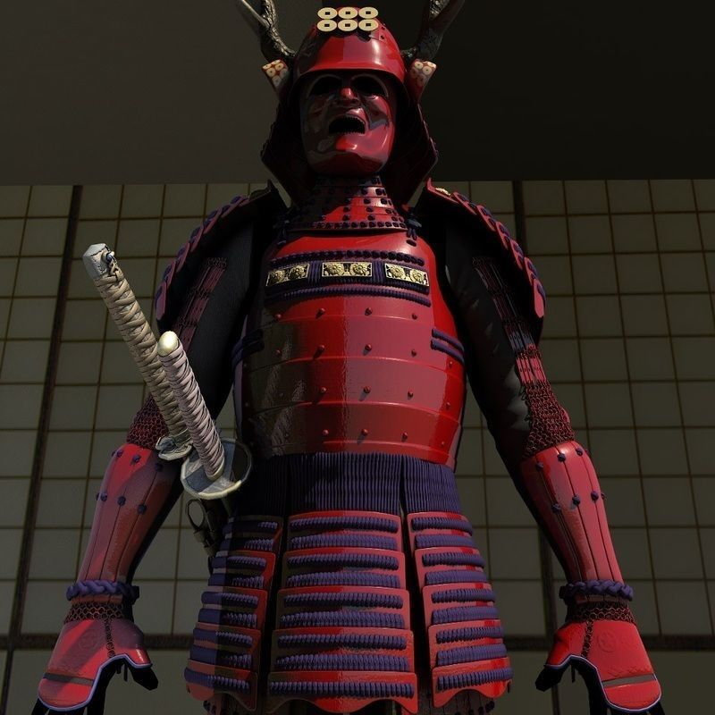 Samurai Armor Red Sanada Clan