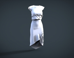 simple female cloth 3D