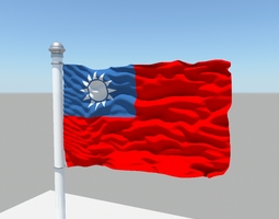 Taiwan flag 3D model