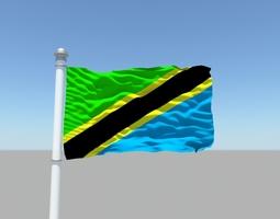 Tanzania flag 3D