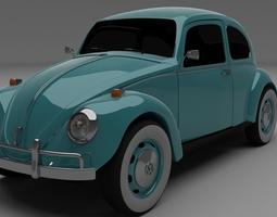 3d model vw beetle