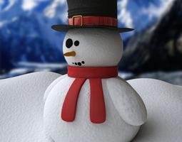 snowman - procedural snow 3d model