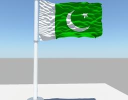 3D Pakistan flag