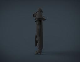 simple cloth female 3D model