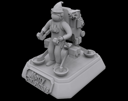 3d printable model santa astronaut