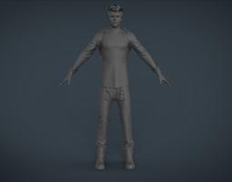 man hungry 3D asset