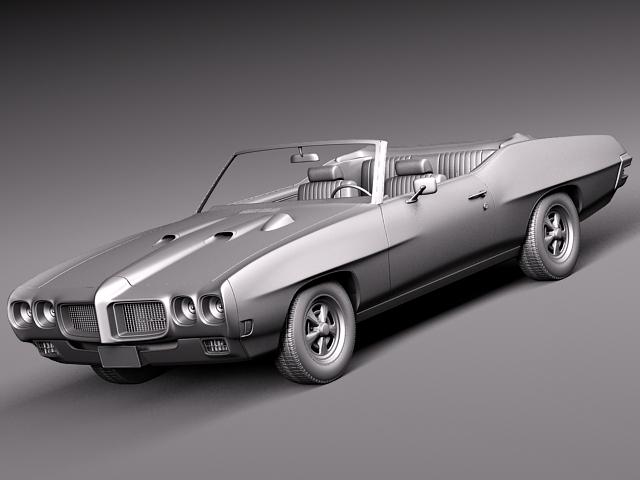 1969 pontiac gto convertible 3d model max 3ds fbx c4d lwo lw lws mtl 10