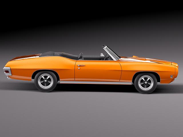 1969 pontiac gto convertible 3d model max 3ds fbx c4d lwo lw lws mtl 11