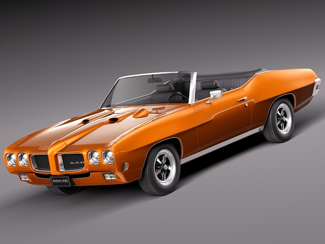 1969 pontiac gto convertible 3d model max 3ds fbx c4d lwo lw lws mtl 1