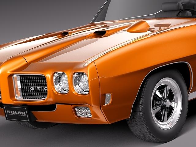1969 pontiac gto convertible 3d model max 3ds fbx c4d lwo lw lws mtl 2