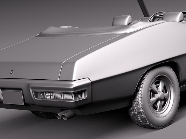 1969 pontiac gto convertible 3d model max 3ds fbx c4d lwo lw lws mtl 7
