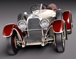 Austro Daimler 1929 3D Model