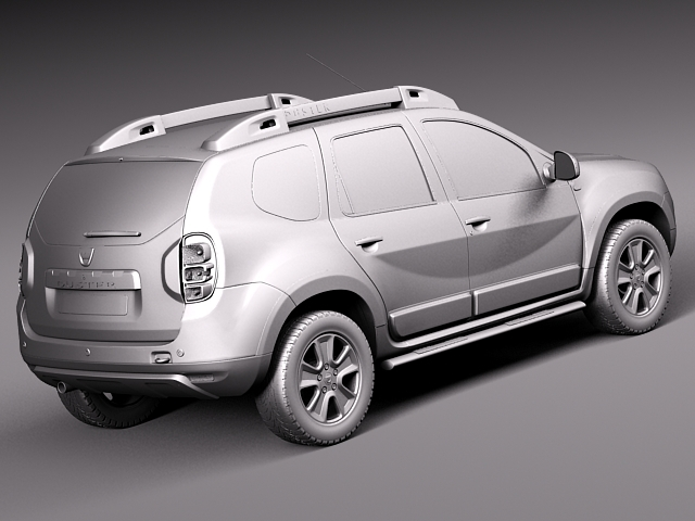 dacia duster 2014 offroad 3d model max obj 3ds fbx c4d lwo. Black Bedroom Furniture Sets. Home Design Ideas