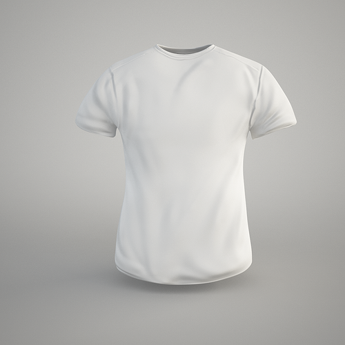 t-shirt 3d model low-poly obj fbx c4d 1