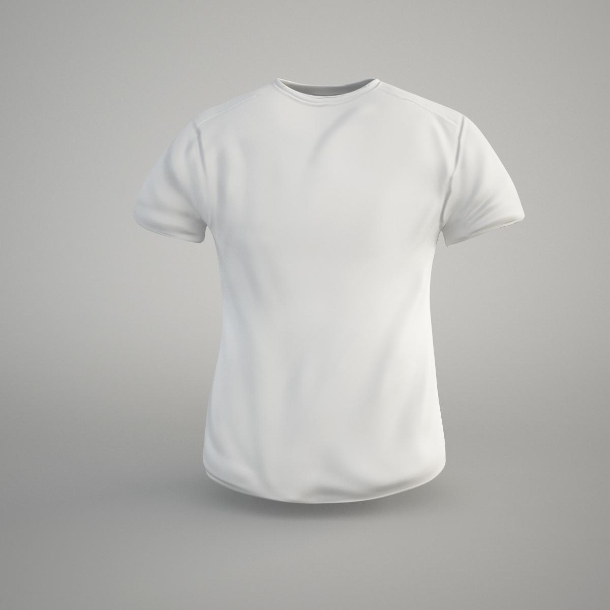 3d model t shirt vr ar low poly obj fbx c4d for Model white t shirt