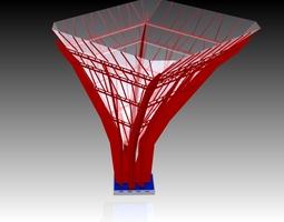 steel tree 3D model