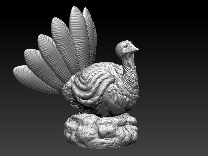 Thanksgiving Turkey 3d Model 3d Printable Obj Stl Mtl