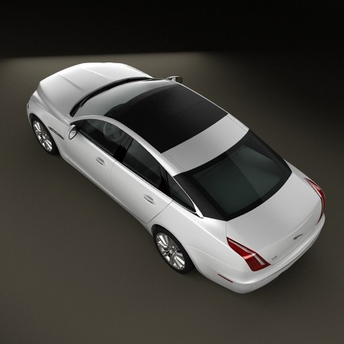 2010 Jaguar Coupe: Jaguar XJ X351 2010 3D Model .max .obj .3ds .fbx .c4d .lwo