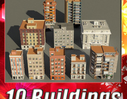 3d model building collection 41-50 realtime