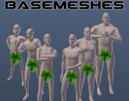 3d model rigged male basemesh pack