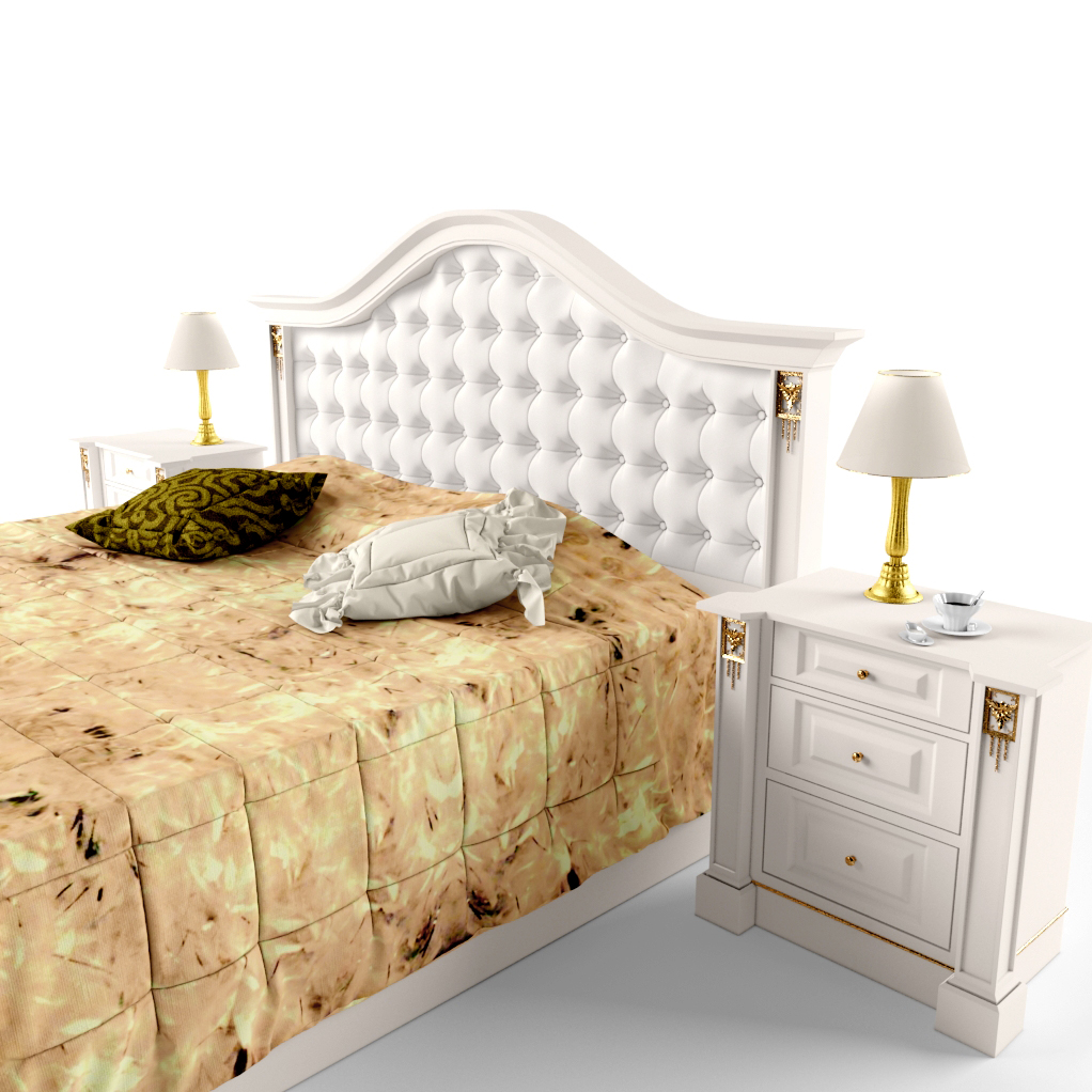 New Model Beds : ... 26k description comments 0 classic bed set 3d model classic bed with