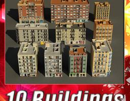 Building Collection 91 - 100 3D asset