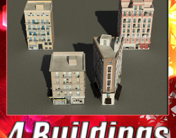 Building Collection 17-20 3D asset